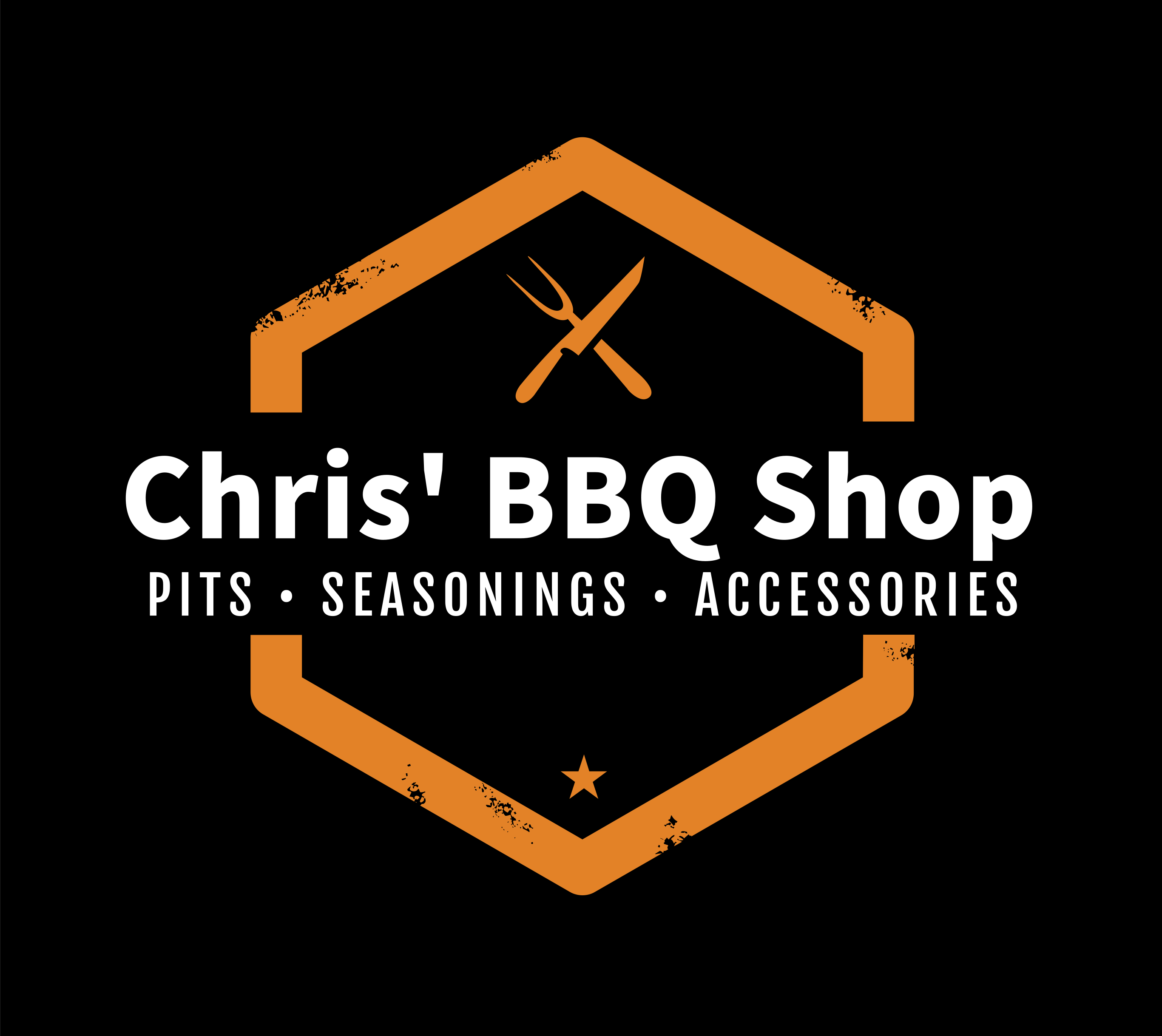 Chris' BBQ Shop Original Logo